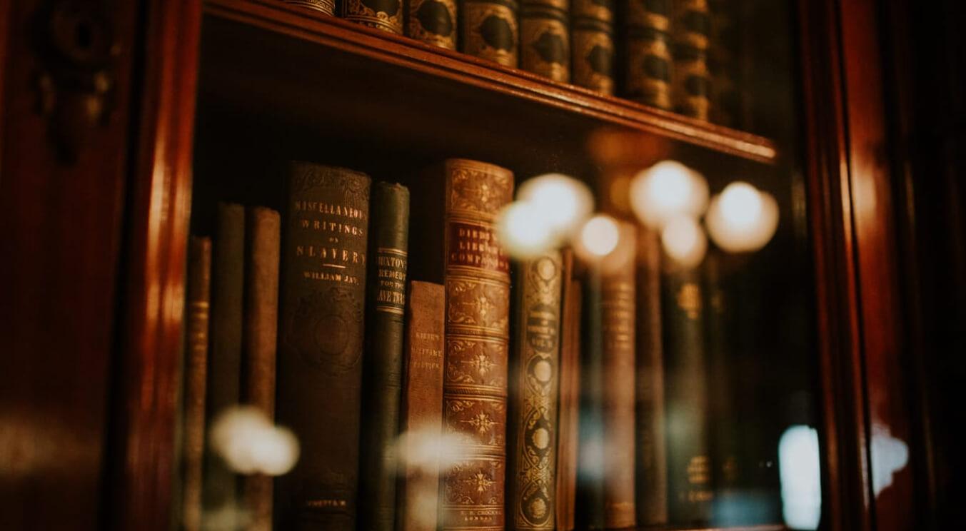 Lawbooks inside a book shelf