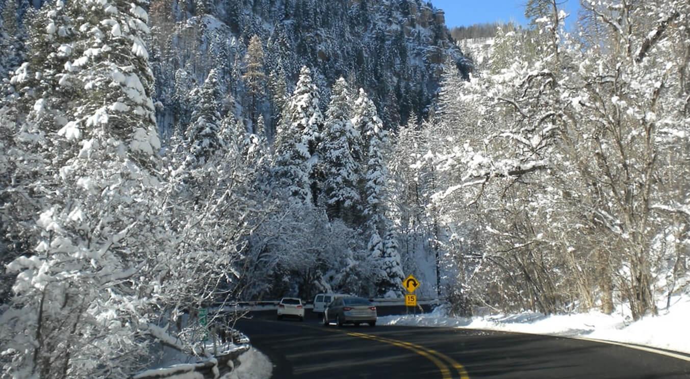 Roads in winter