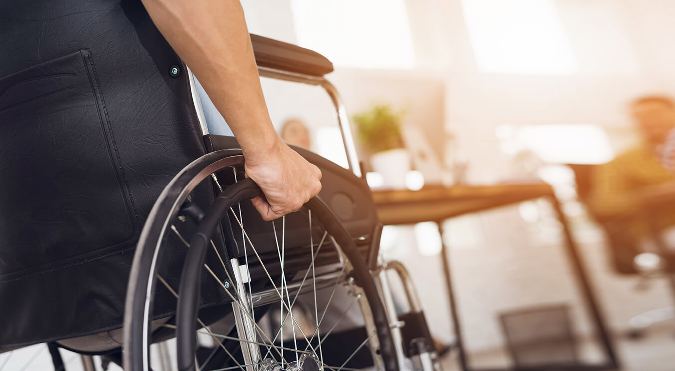 Person sitting in wheelchair